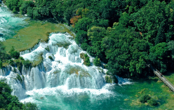 Krka River and waterfalls